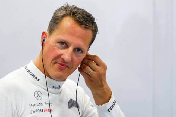 Signed Michael Schumacher goodies are among lots at a charity auction in support of the Prince's Trust (Picture: EPA)
